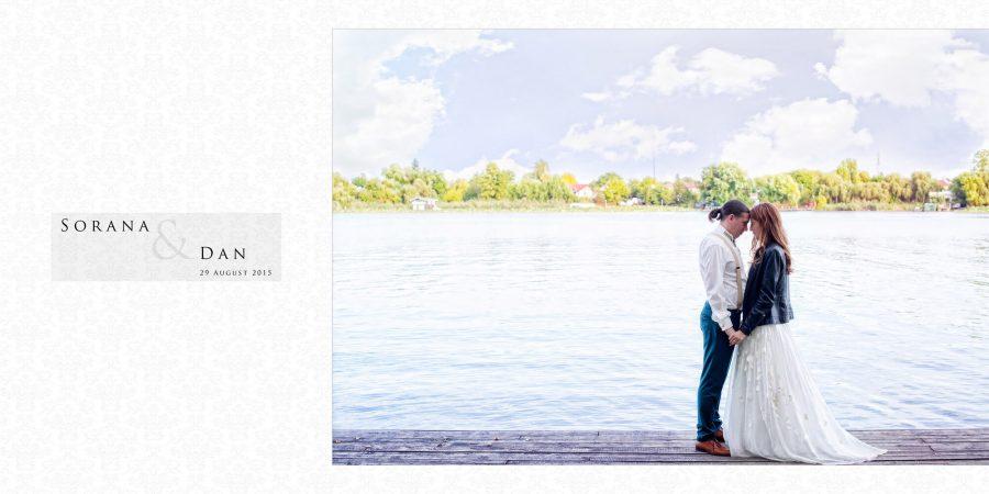 Colaj fotografii album nunta Sorana si Dan