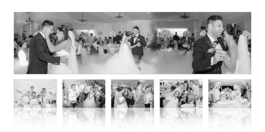 Colaj fotografii fotobook nunta Celia si Ardeli