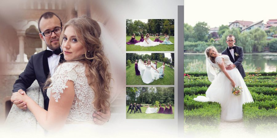 Colaj fotografii fotobook nunta Ioana si Petru