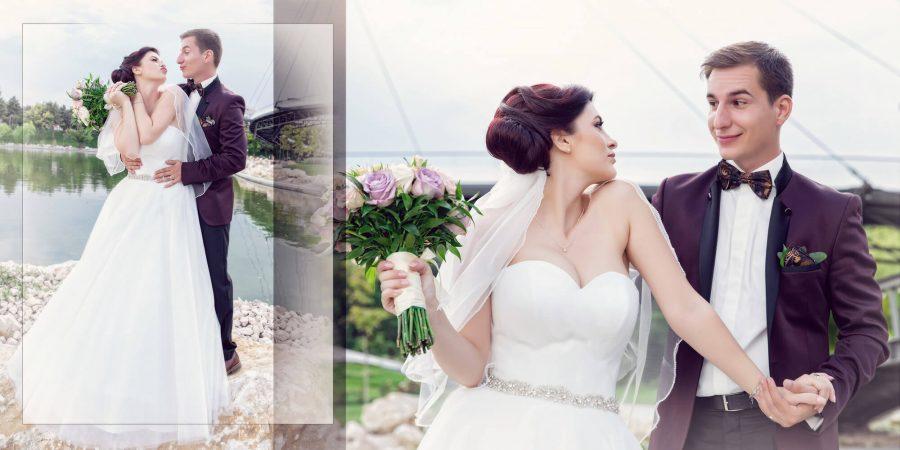 Colaj fotografii fotobook sedinta foto nunta Gabi si Catalin