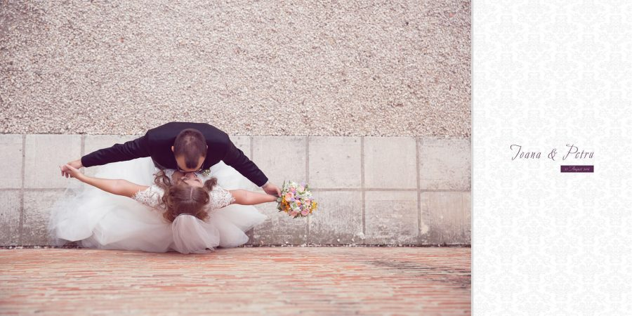 Colaj pagina album foto profesional nunta Ioana si Petru
