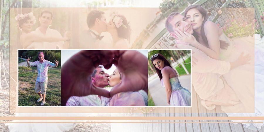 Colaj pagina fotobook nunta Gabi si Catalin