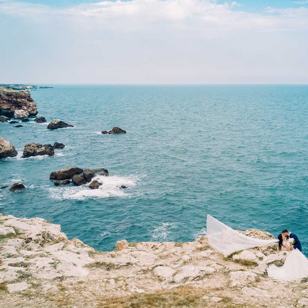 Fotografie drona trash the dress Bulgaria