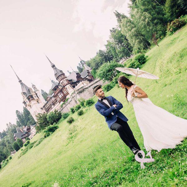 Fotografie dupa nunta la castelul Peles