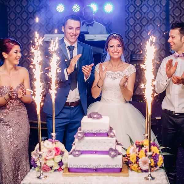 Fotografie tortul mirilor nunta Mihaela si Marian