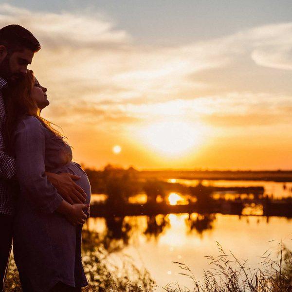 Fotografie gravidute silueta parinti